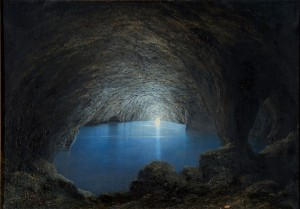 Karl Willhelm Diefenbach - The blue grotto in Capri