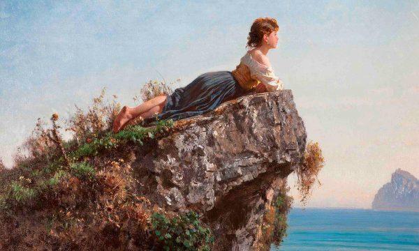 Picture-Story: Fanciulla sulla roccia a Sorrento