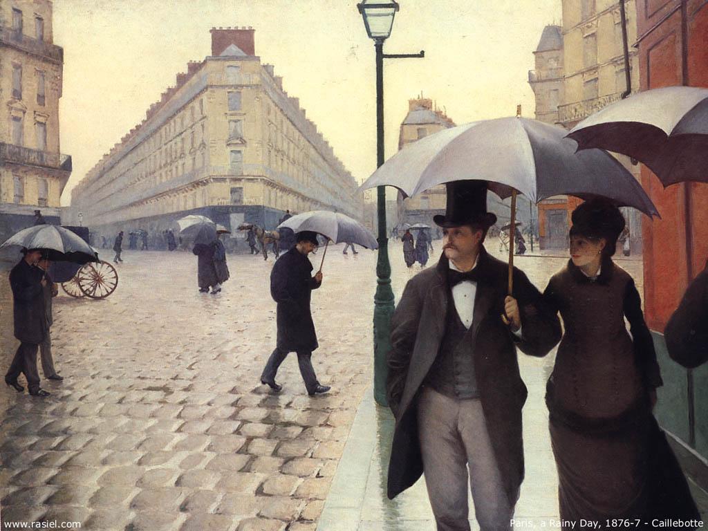 Caillebotte - Parigi in un giorno di pioggia