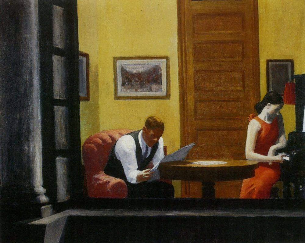 Edward Hopper - Room in New York, 1932
