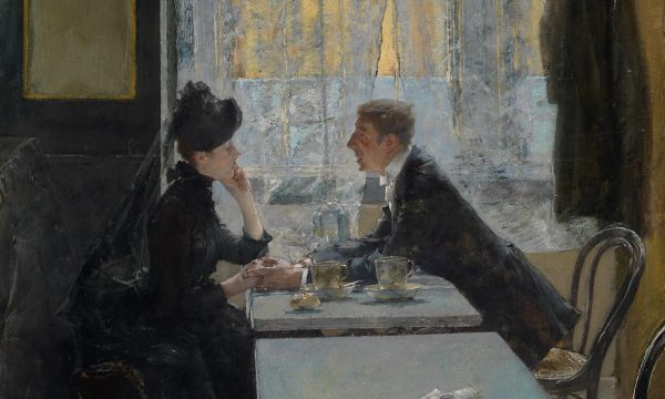 Picture-Story: Lovers in a cafe