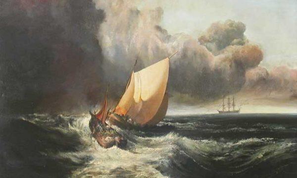 Il mare in tempesta.