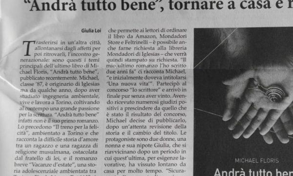 """""""Andrà tutto bene"""", l'articolo di Sulcis Iglesiente Oggi"""